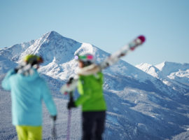 The skiing at Vail draws people from around the world.