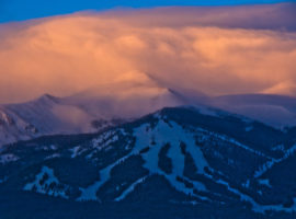 Sunrise over Breckenridge, Colorado.