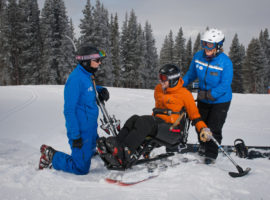 Most resorts offer an adaptive ski program.