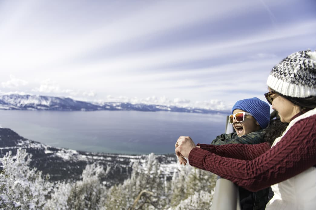 Winter view of Lake Tahoe from Heavenly