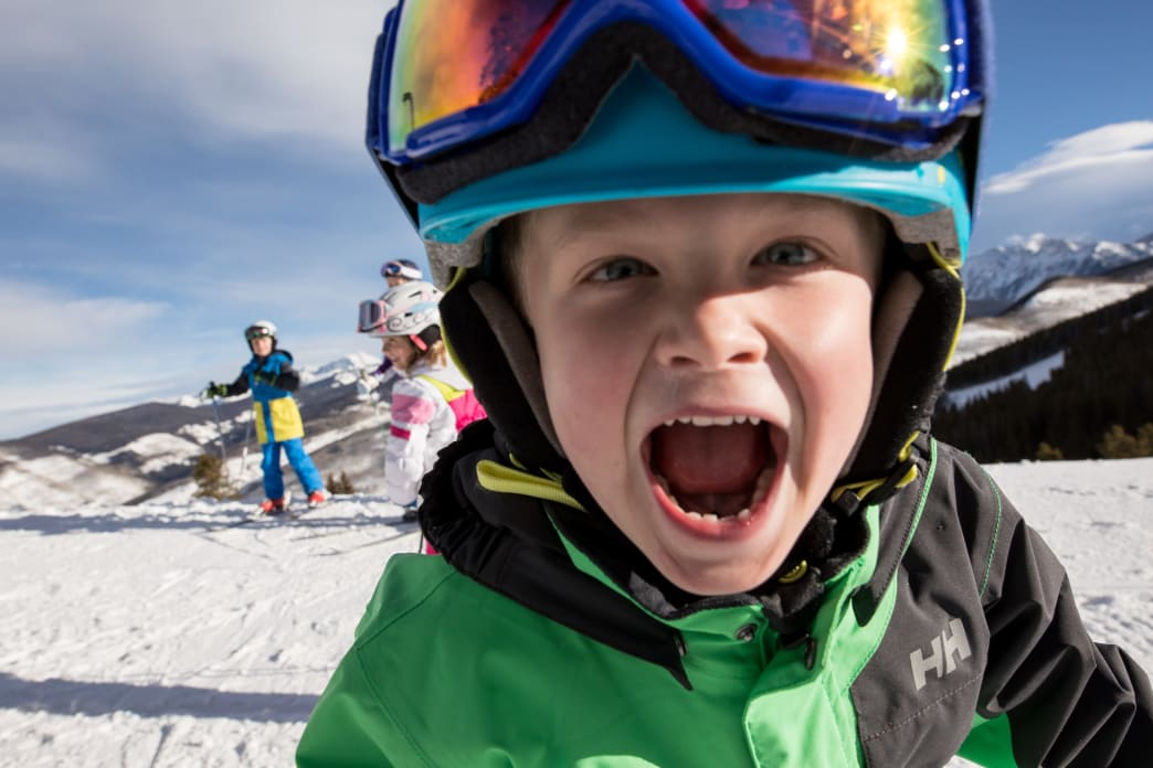 Kids and Families skiing at Vail
